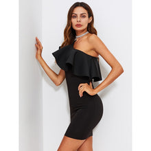 Flounce One Shoulder Form Fitting Dress fashion clothing accessories shoes jewelry