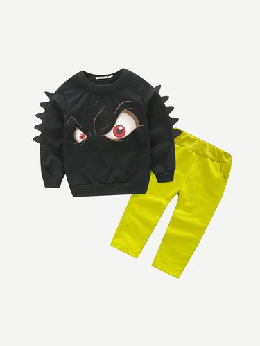 Kids - Boys - Apparel Toddler Boys Eye Print Sweatshirt With Pants fashion clothing accessories shoes jewelry