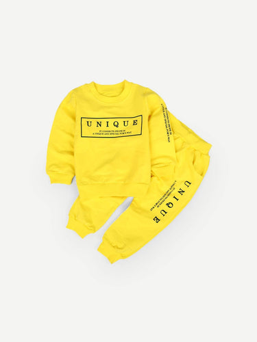 Kids - Boys - Apparel Toddler Boys Letter Print Sweatshirt With Pants fashion clothing accessories shoes jewelry