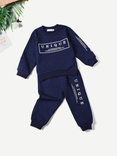 Kids - Boys - Apparel Toddler Boys Letter Print Top & Pants fashion clothing accessories shoes jewelry