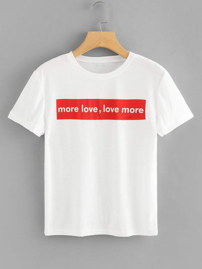Letters Print Tee fashion clothing accessories shoes jewelry