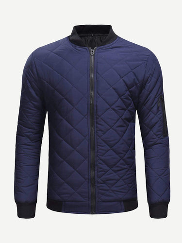 Men - Apparel - Outerwear - Jackets Men Quilted Solid Outerwear fashion clothing accessories shoes jewelry