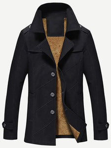Men - Apparel - Outerwear - Jackets Men Velvet Lined Jacket fashion clothing accessories shoes jewelry
