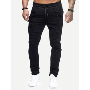 Men - Apparel - Pants - Chino Men Pleated Plain Drawstring Pants fashion clothing accessories shoes jewelry