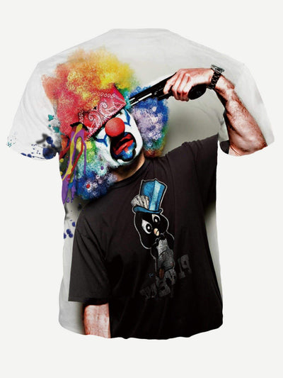 Men - Apparel - Shirts - T-Shirts Men Clown Print Tee fashion clothing accessories shoes jewelry