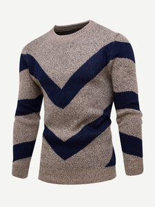 Men - Apparel - Sweaters - Crew Neck Men Geo Pattern Jumper fashion clothing accessories shoes jewelry