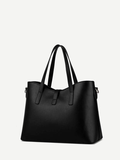 Metal Detail Tote Bag fashion clothing accessories shoes jewelry