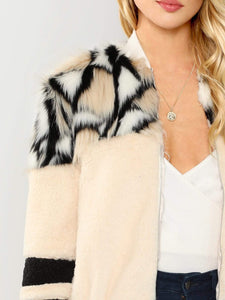 O-Ring Zip Up Faux Fur Coat fashion clothing accessories shoes jewelry