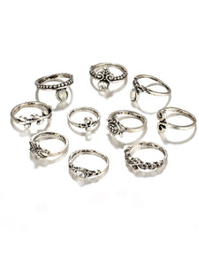 Starfish And Tortoise Design Ring Set 10pcs fashion clothing accessories shoes jewelry