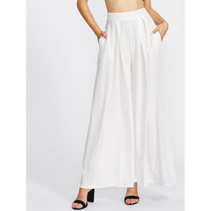 Women - Apparel - Pants - Trousers Pleated Detail Palazzo Pants fashion clothing accessories shoes jewelry