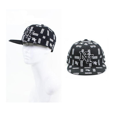 Men - Accessories - Hats NY Embroidered Printed Baseball Cap