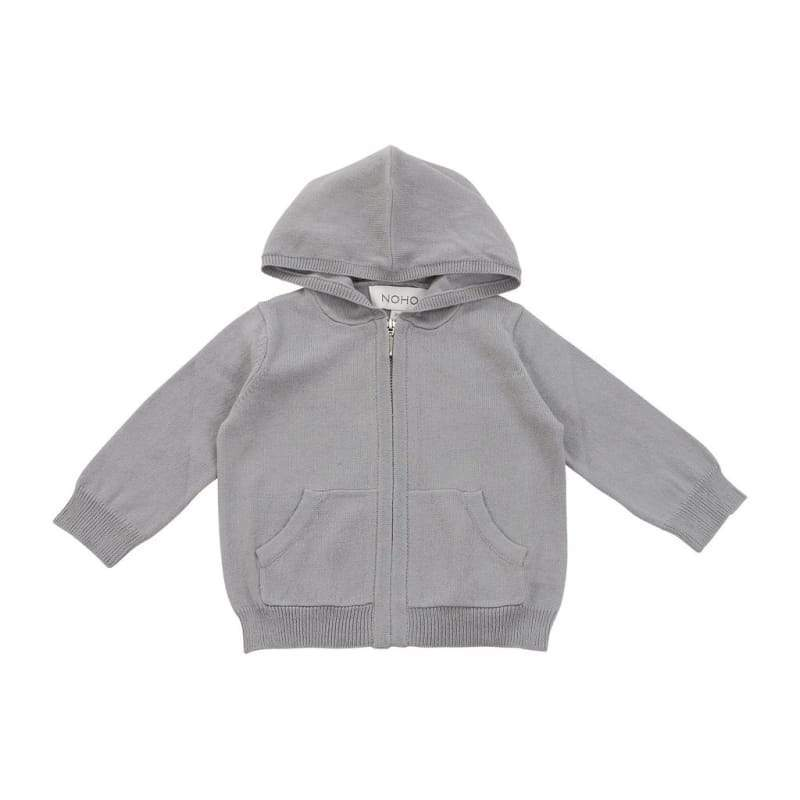 Kids - Boys - Apparel cotton cashmere grey hoodie Fashion Madness