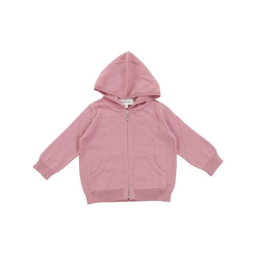 Kids - Girls - Apparel cotton cashmere pink hoodie Fashion Madness