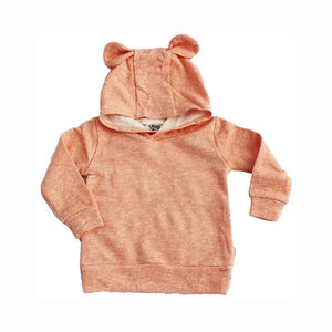 Kids - Boys - Apparel Peach Bear Eared Hoodie Fashion Madness