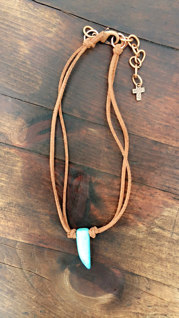 Turquoise Tooth Neclace