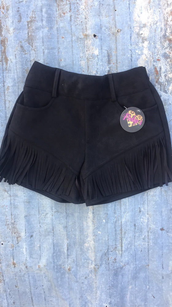 Any Fringe Of Mine Black Shorts