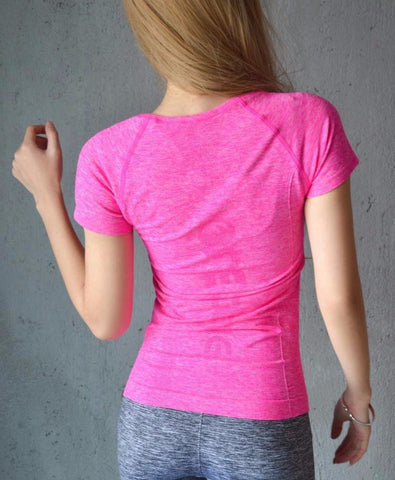 t-shirt de dos rose comfortable