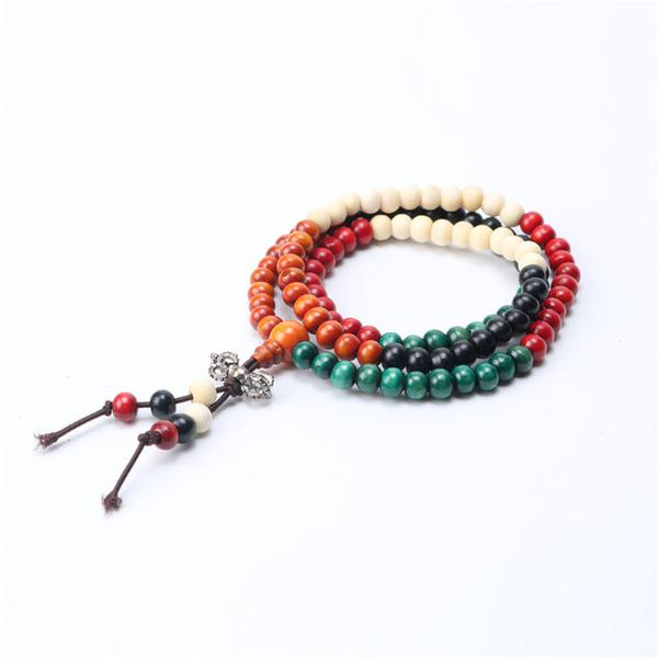 bracelet naturel bois multi