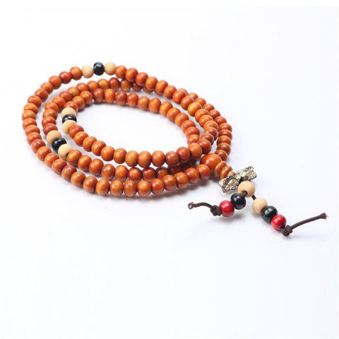 bracelet naturel en bois orange