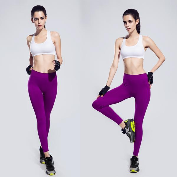 pantalon collant violet