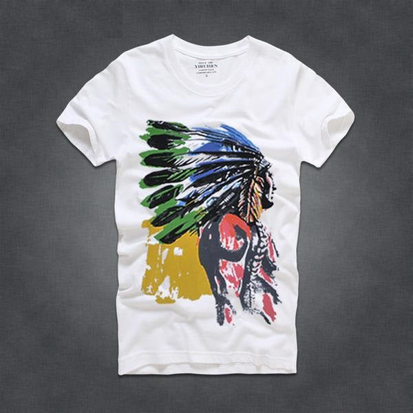 t-shirt blanc chef indien