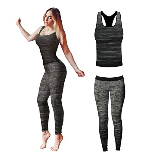 vêtements de sport gris yoga