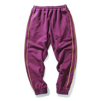 Gemini Track Pants - Burgundy/Gold