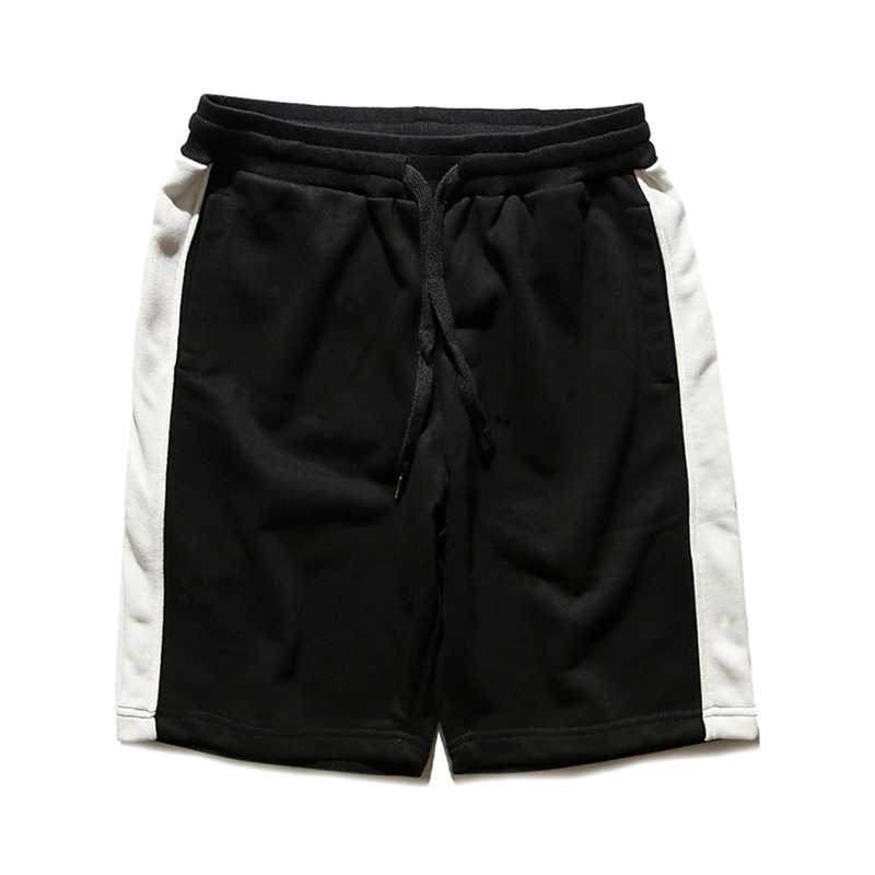 Lone Stripe Shorts - Black