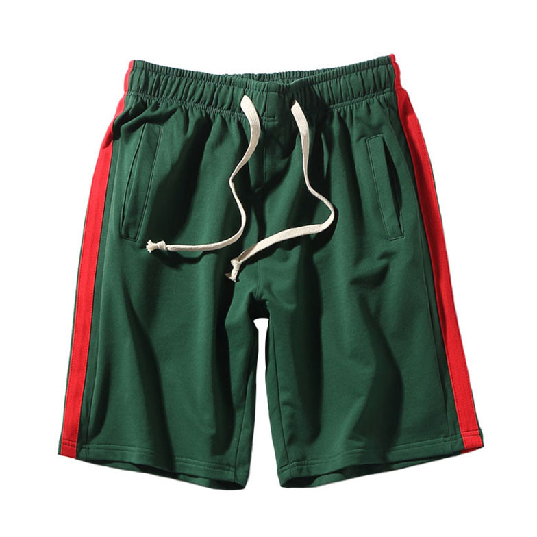 Track Shorts - Green/Red