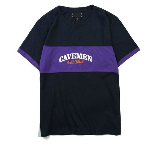 Cavemen Tee - Purple