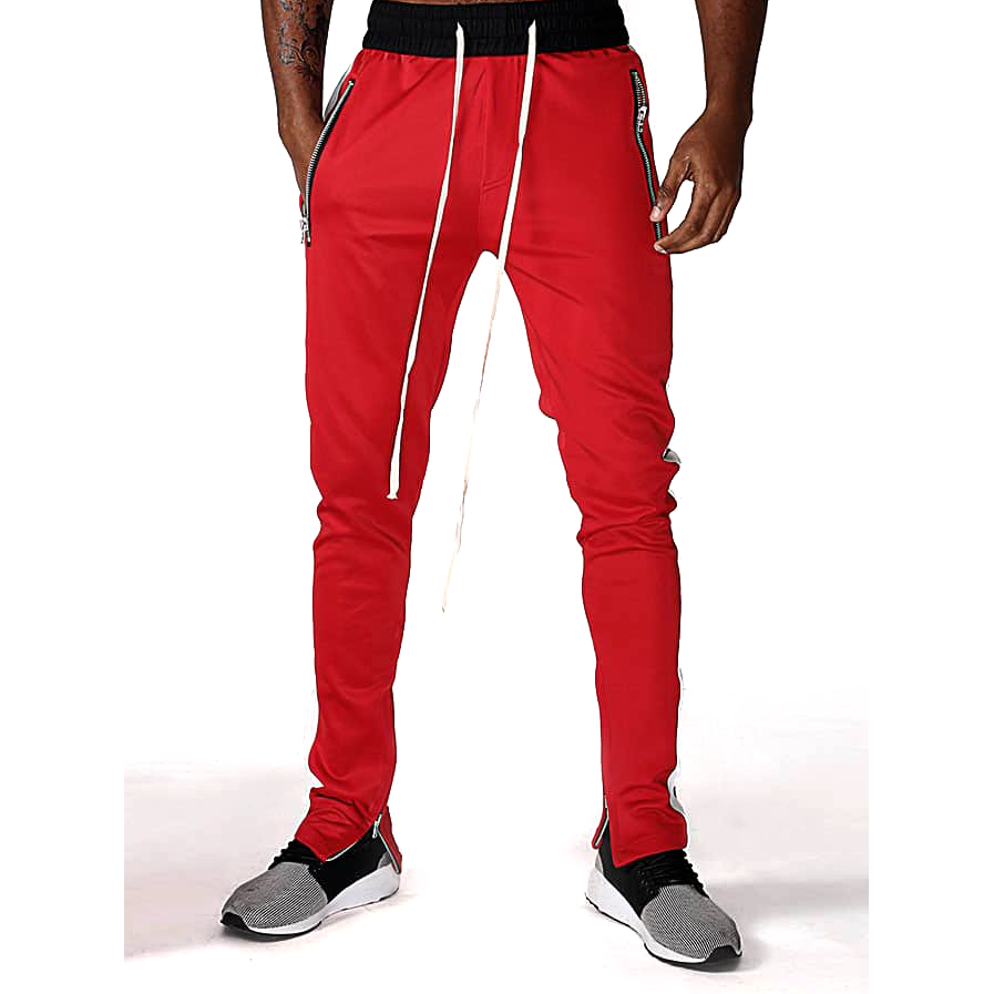 Fitted Track Pants - Red