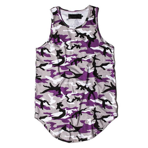 Camo Tank Top - Purple