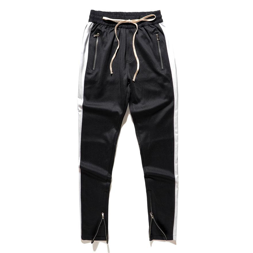 Fitted Track Pants - Black