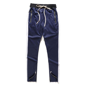 Fitted Track Pants - Navy