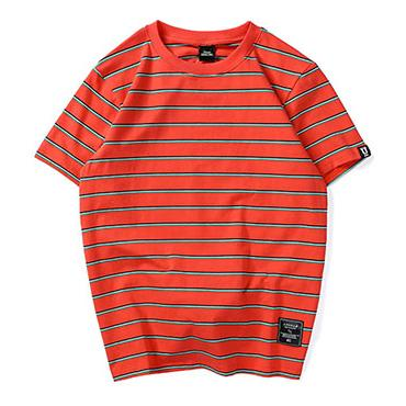 Striped Up Tee - Orange