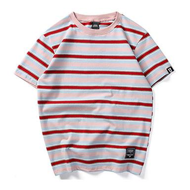 Striped Up Tee - Pink