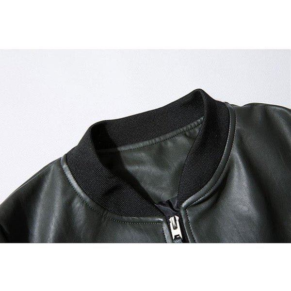 Poseidon Leather Jacket - Black