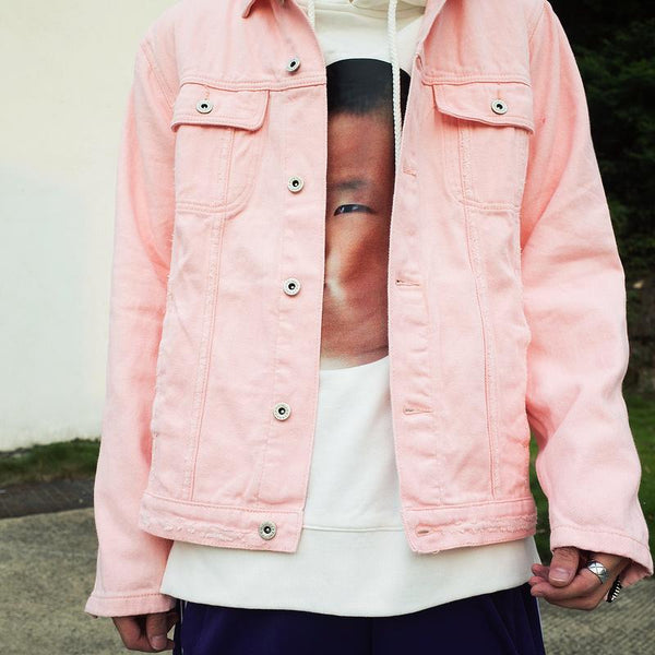 Rose Denim Jacket - Pink