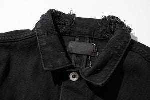 Rose Denim Jacket - Black