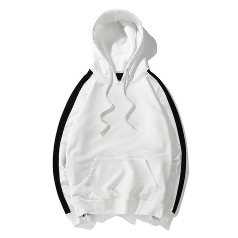 Track Sweater - White/Black
