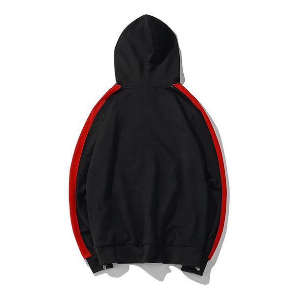 Track Sweater - Black/Red