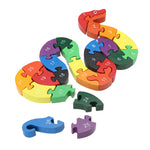 Numeric educational Snake Shape puzzle