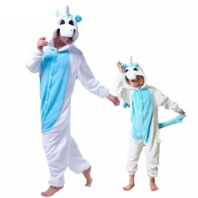 Blue unicorn Halloween family matching outfit