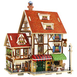 French Style Coffee House 3D wooden Puzzle