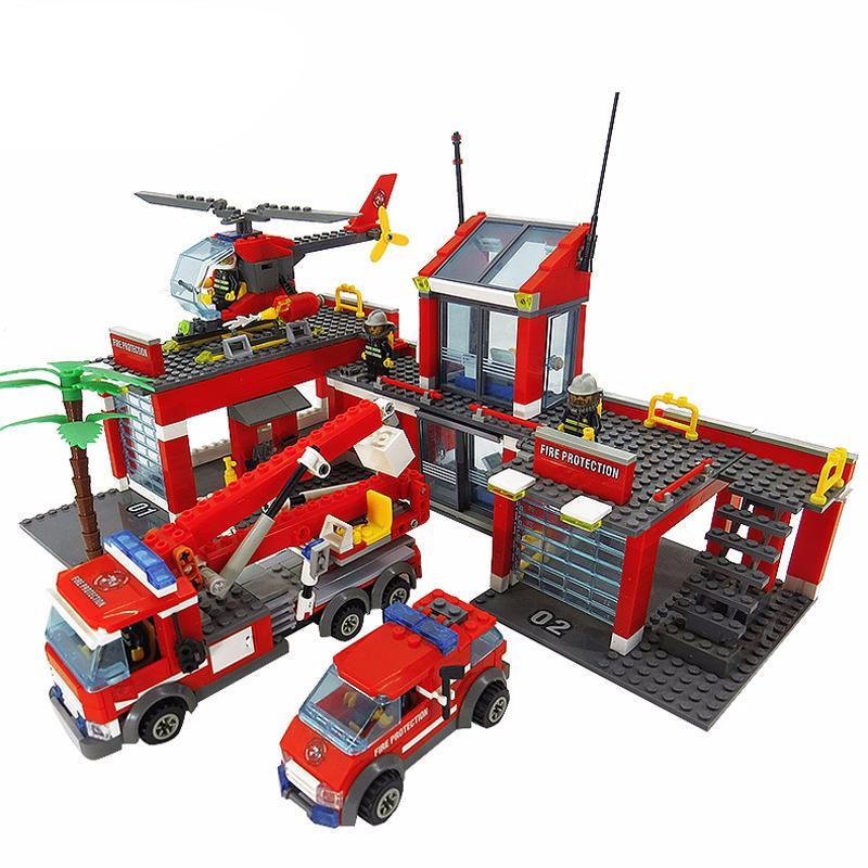 Fire station LEGO blocks