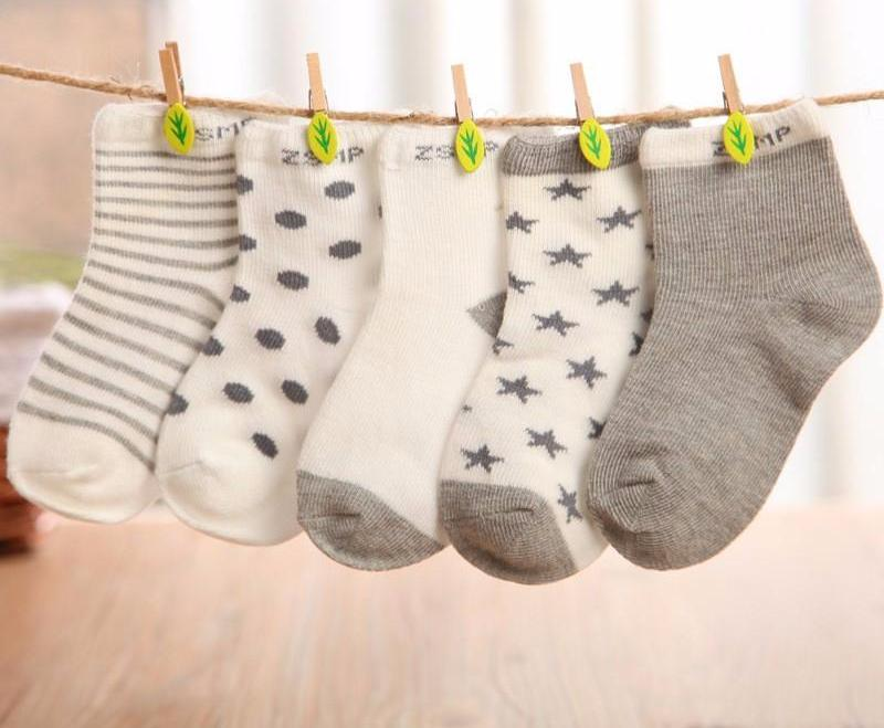 Cotton Newborn Baby Socks - [5 pairs]
