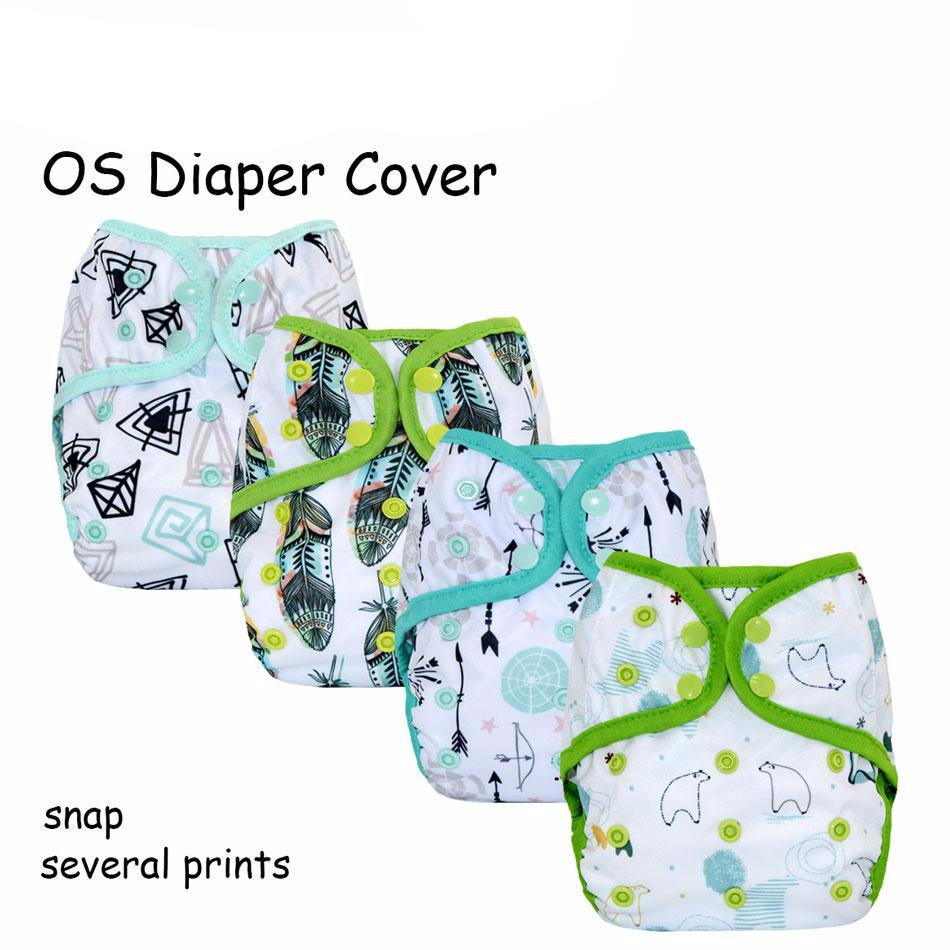 Happy diaper cover with or without bamboo insert, waterproof breathable and adjustable