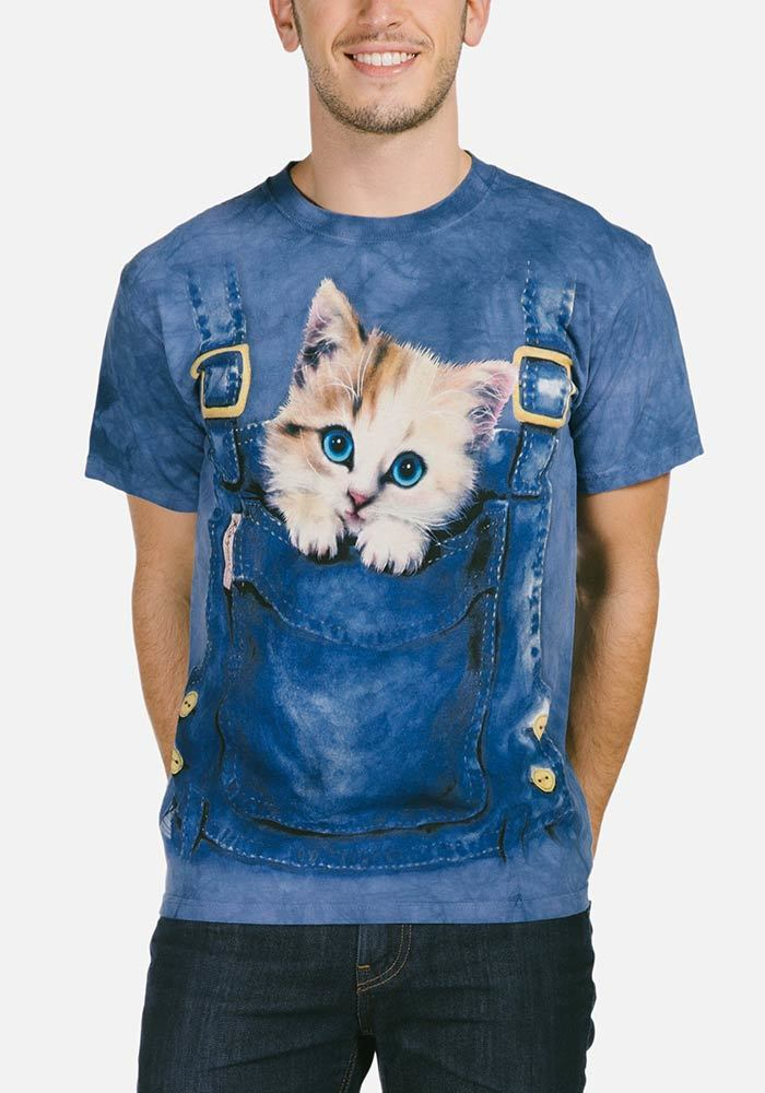 Kitty Overalls T-Shirt - Only Cat Shirts