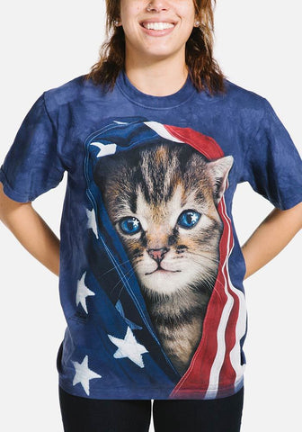 Patriotic Kitten T-Shirt - Only Cat Shirts