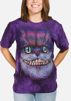 Big Face Cheshire Cat T-Shirt - Only Cat Shirts